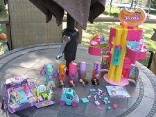 Sweet Secrets Lot PURSE, MALL, Lipstick Playsets + 7 Dolls Cat, Car NICE Set!