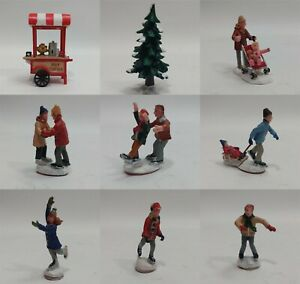 2009 Lemax Village Skating Pond With Sound Replacement Figures Choose One