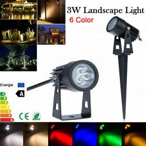 1/10x mini 3W Outdoor Garden Light LED Flood Spot Light Lawn Landscape Lamp LTW