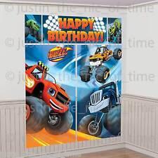 BLAZE & THE MONSTER MACHINES Boys Birthday Party Scene Setter Wall Decoration