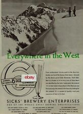 "SICK'S BREWERY COMPANY EVERYWHERE IN THE WEST BEER ""6"" S I C K"" S 1948 AD"