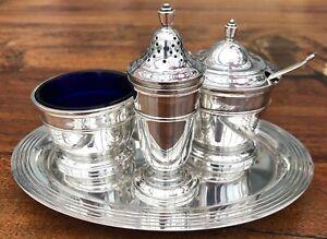 Mappin & Webb Silver Plated Condiment Cruet Set