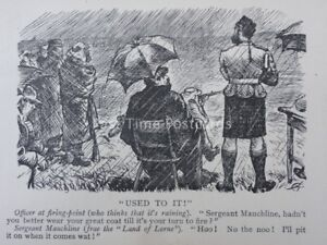 Scottish Humour USED TO IT - OFFICER AT FIRING-POINT Antique Punch Cartoon