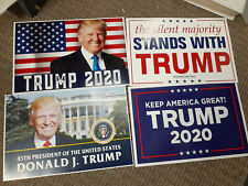 Re elect Trump Poster Rally Signs 4 Assorted Size 18x12 Indoor Use!