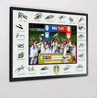 LEEDS UNITED CHAMPIONS 2019-20 Framed Canvas Print Signed  Great Gift
