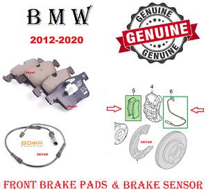 BMW Front Brake Pads & Sensor 228i 230i 320i 328i 330i 428i 430i X3 X4 GENUINE