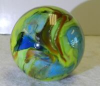 #10111m Willis Handmade Contemporary Marble 1.19 Inches Signed WAG *Mint*