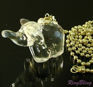Elephant Bedroom Bathroom Light Pull Chain. Crystal Effect Pull Cord Replacement