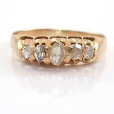 Vintage Antique Estate Solid 18K Yellow Gold Rose Cut Diamond Ring Size 10 ZQ2