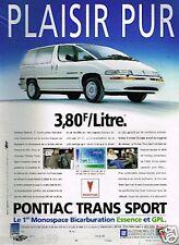 Publicité advertising 1995 Pontiac Trans sport