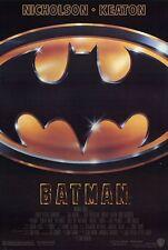 BATMAN ORIGINAL MINT ROLLED THEATRICAL REGULAR STYLE 1 SHEET MOVIE POSTER 1989