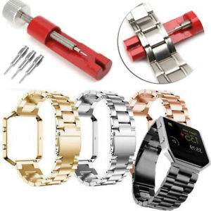 For Fitbit Blaze Stainless Steel Metal Watch Band Wrist Strap Frame +Repair tool