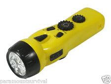 Emergency Radio AM/FM Dynamo 4-In-1 Hand Crank LED Light Emergency Survival