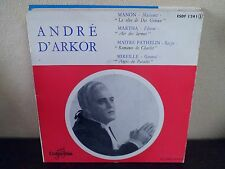 """EP 7"""" ANDRE D'ARKOR - Airs d'Opéras - Manon +3 - VG+/EX - COLUMBIA - ESDF 1241"""
