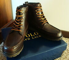 Polo Ralph Lauren Brown Leather Willingcott Biker Hiker Men's Boots New 11 $170