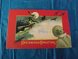 """Early 20thc HALLOWEEN EC BANKS POSTCARD - """" WHATS MEANT FOR THEE-THEE'LL HAVE """""""