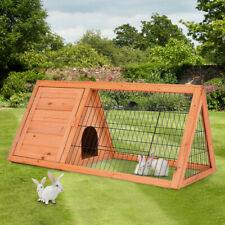 Wooden Rabbit Hutch Cage Chicken Coop House Hen Pet Animal Backyard Run