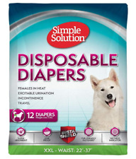 Simple Solution Disposable Dog Diapers for Female Dogs 12 count XXL/Jumbo