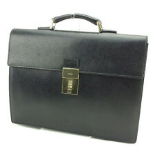 Gucci Business bag Black Gold Woman unisex Authentic Used T2692