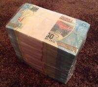 Madagascar Banknote Brick. 1000 X 100 Ariary. Uncirculated Lot.
