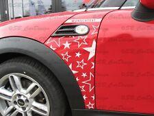 Guardabarros-adhesivo Fender decal Stars F. BMW Mini Cooper r56 estrellas one Works