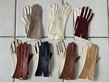 Rare Tan Grey Vintage Leather Gloves For Women - 1 pair