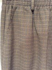 ALFRED DUNNER SKIRT CAREER SZ 8 HOUNDSTOOTH BEIGE Brown STRAIGHT PENCIL