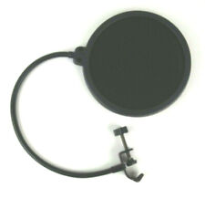 Microphone Pop Filter Dual Layer Mic Pop Shield With Flexible 360 Gooseneck Clip