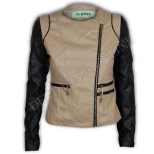 Abrigos y chaquetas de mujer beige de poliéster talla S