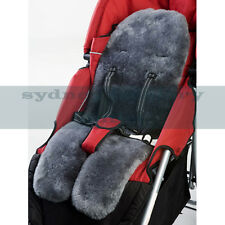 MEDICAL GRADE Australian Sheepskin Baby Pram Stroller Car Seat Liner CHARCOAL