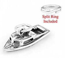 "STERLING SILVER  925 ""BOAT 3D"" CHARM WITH SPLIT RING"