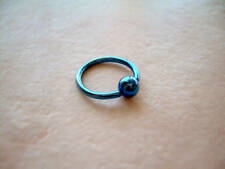 "Titanium Captive Ring Eyebrow Tragus Lip  16g  5/16"" Dark Blue"