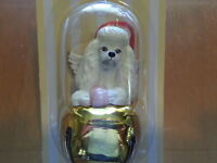 3 Pc Set POODLE Dog Figurine Brass Bells By DNC Collections Ornaments Lot Gold