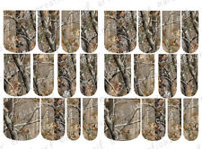 24 WATER SLIDE NAIL ART DECALS * REALTREE INSPIRED AP CAMO * FULL NAIL COVERS