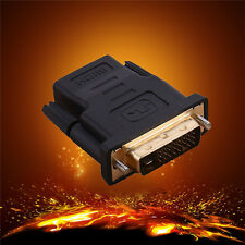 DVI-D 24+1 Pin Male to HDMI Female M-F Adapter Converter for HDTV LCD Monitor