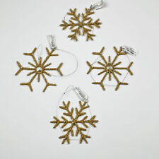 Martha Stewart Holiday In The Woods Jute Snowflake Christmas Ornament Set of 4