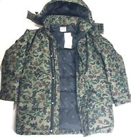 Mens Converse Down Filled Camo/Camoflauge Hooded Sideline Jacket Water Resistant