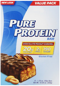 Pure Protein Bars, Healthy Low Carb Snacks, Chocolate Peanut Caramel, 1.76 oz...