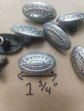 9 lot Vtg Drawer oval egg pulls knobs brushed nickel dresser 8 10 11