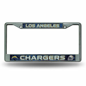 Los Angeles LA Chargers Chrome Metal License Plate Frame