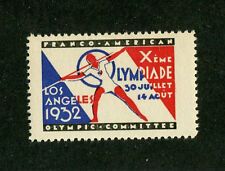 1932 LOS ANGELES OLYMPICS FRANCO-AMERICAN COMMITTEE Olympiade Javelin Thrower
