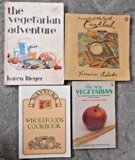 4 Vintage Retro Vegetarian Cookbooks Friends of the Earth Naytura Wholefoods