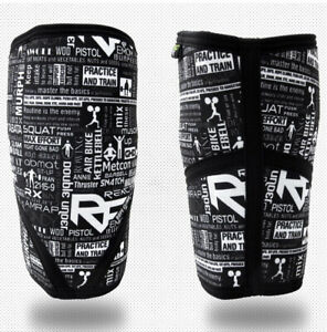 Neoprene Knee Sleeves, X-Large By React Fit, 7mm, Black & White Print