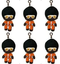 6 Little Big Planet Plush Keychain Marvin/Afro Sackboy Black Man Stuffed Toy PS