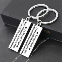 """2X """"To My Man To My Woman"""" Key Ring Couple Lovers Keychain Keyring Pendant Gift"""