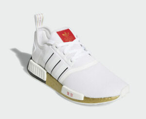 Adidas Originals NMD R1 TOKYO Gold White Black Red FY1159 Running Shoes Olympics