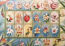 GAMBIA ORCHIDS STAMP SHEET 12V 2001 MNH ORCHID FLOWERS NATURE WILDLIFE PLANT