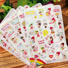 6 sheet My little friend decoration notebook calendar album PVC diary sticker