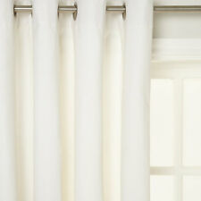 House by John Lewis Lined Eyelet Curtains Lily/White 182 cm Drop 228 cm wideRRP£