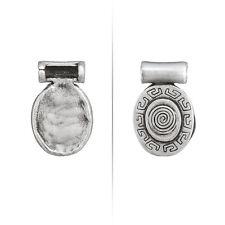 25 mm Aztec Tourbillon Argent Antique Ovale Métal Pendentif Pack de 1 (N60/5)